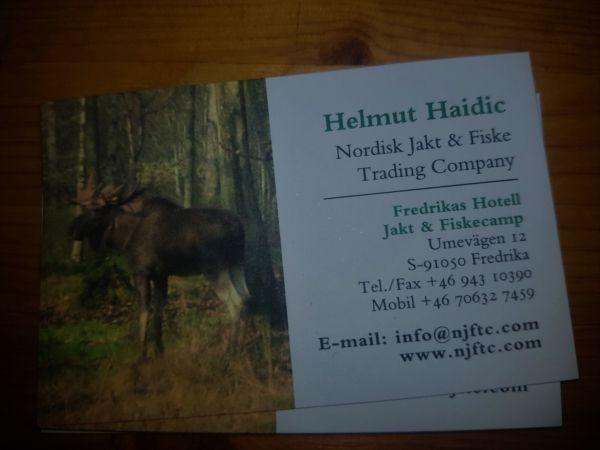 Helmuts Visitenkarte